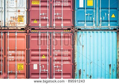 Cargo Container Closeup
