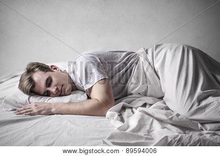 Sound asleep man