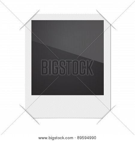 Retro Photo Frame Polaroid  On White Background. Vector illustra