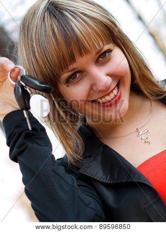 Girl With Car Keys