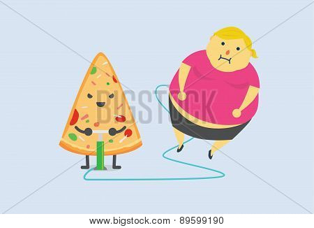 Pizza made you fat fast