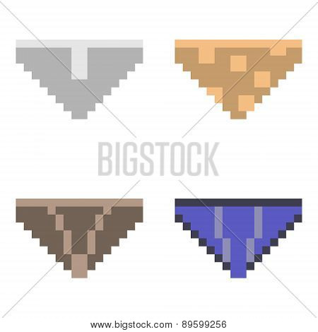 illustration pixel art icon panty