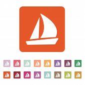 foto of brigantine  - The sailboat icon - JPG