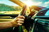stock photo of road trip  - Summer Time Car Trip - JPG