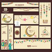 image of eid mubarak  - Social media and marketing banners - JPG