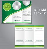 stock photo of pamphlet  - Tri Fold Brochure Flyer Vector Template Design - JPG