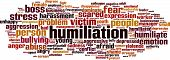 picture of humility  - Humiliation word cloud concept - JPG