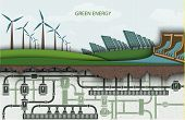 picture of wind energy  - green energy - JPG