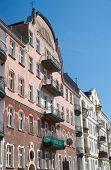 image of art nouveau  - Balconies on the facade of the Art Nouveau building in Poznan - JPG