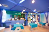 image of canteen  - Abstract blurred food court or canteen with defocused light boken - JPG