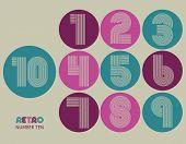picture of funky  - Retro stripes funky numbers settrendy elegant retro style design - JPG