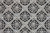 image of palace  - Carved tile decorations on the outer wall of the New Royal Palace Istana Negara  - JPG
