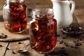 stock photo of cold drink  - Homemade Cold Brew Coffee to Drink for Breakfast - JPG
