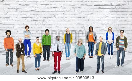 Diversity People Community Standing Concept