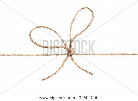 Rope And Bow Isolated On White
