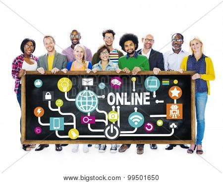 Global Online Communication Social Networking Technology Concept