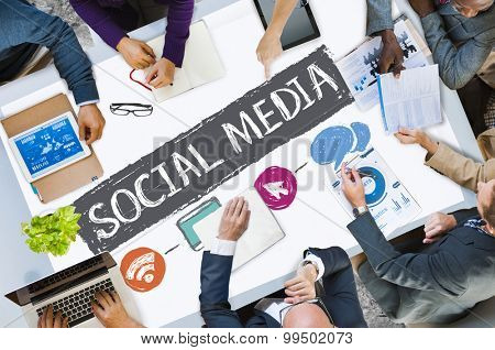 Social Media Social Networking Technology Connection Concept