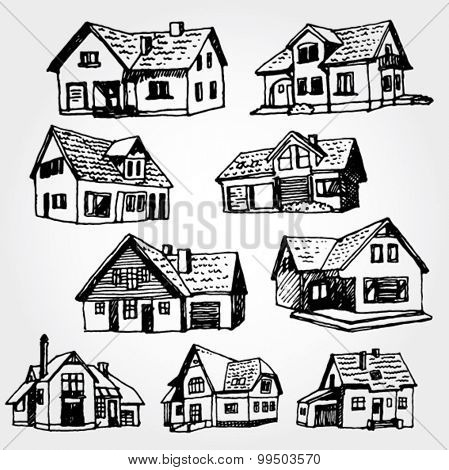 Houses Hand Drawn