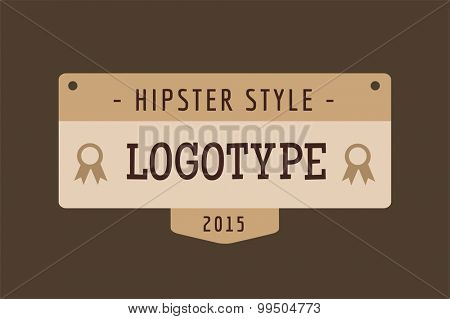 Hipster modern thin style logo. Letter logo. Royal hotel, Premium boutique, Fashion logo, Education logo, Shield logo, VIP logo, Star logo, School or University logo, Premium quality brand