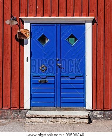 Door of the residential house