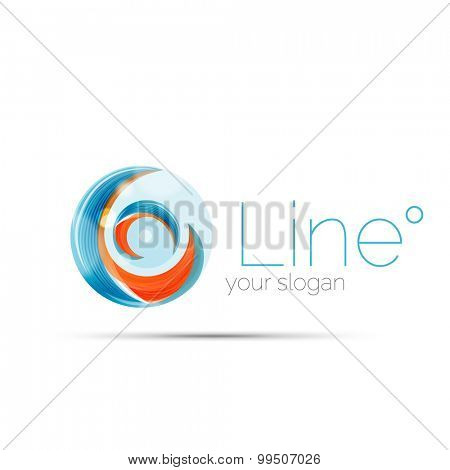 Swirl blue orange company logo design. Universal for all ideas and concepts. Business creative icon
