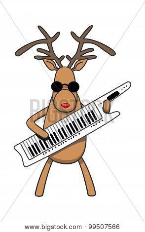 Christmas Reindeer Plays Klavitare