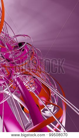 3D futuristic abstract background