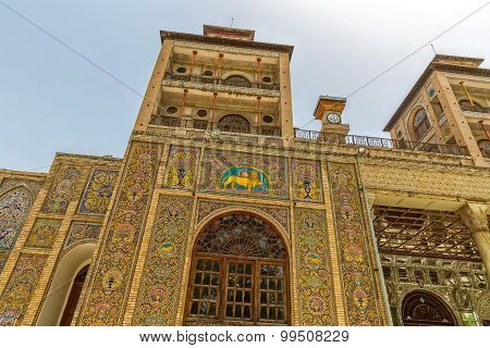 Golestan Palace exterior Edifice of the Sun tower
