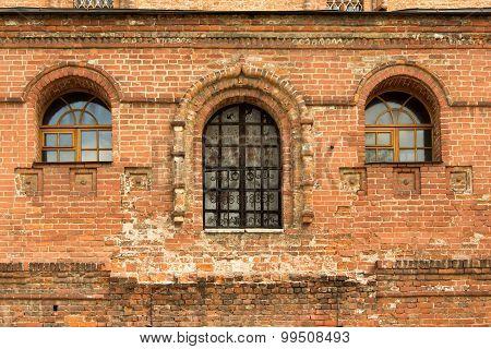 Ancient Brick Facade, Krutitskoe Farmstead