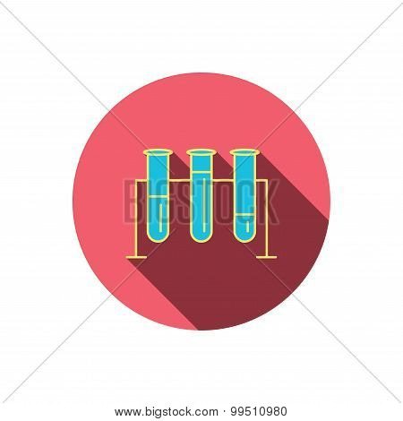 Laboratory bulbs icon. Chemistry sign.