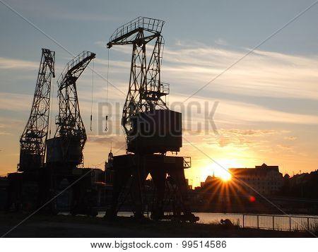 Szczecin cranes