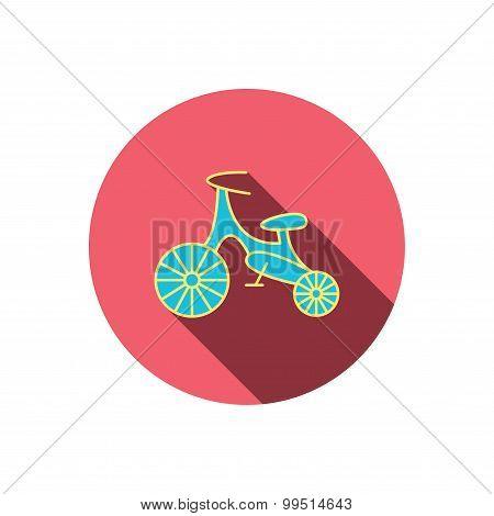 Bike icon. Kids run-bike sign.