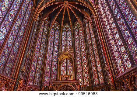 Stained Glass Sainte Chapelle  Cathedral Paris France