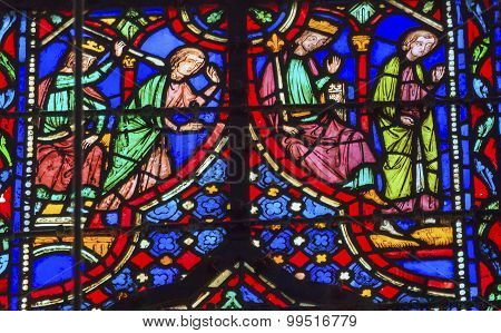 King Killing  Stained Glass Sainte Chapelle Paris France
