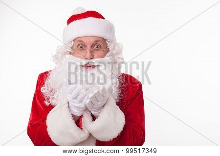 Old Father Christmas is congratulating on the occasion