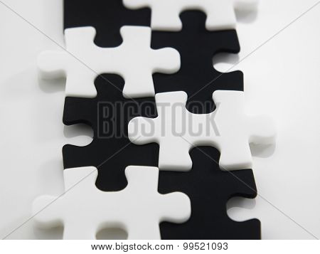 black and white jigsaw puzzle