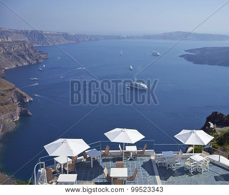 Seatings Facing Aegean Sea