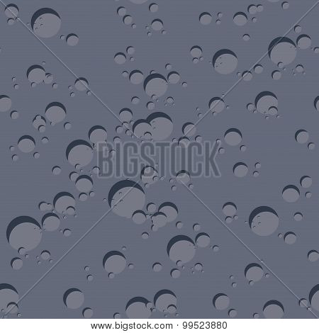 Texture Of  Dark Planet. Seamless Pattern Of Surface Of  Moon. Vector Background