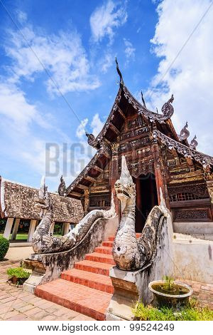 Wat Ton Kain , Old Wooden Temple In Chiang Mai Thailand.