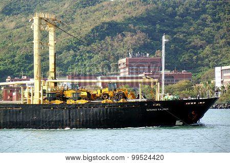 Cargo Ship Enters Kaohsiung Port