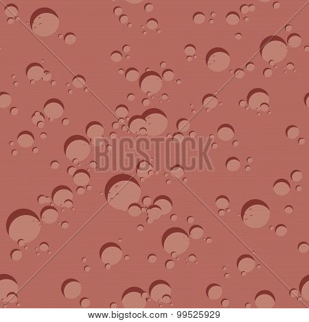 Mars Seamless Pattern. Vector Illustration Of  Surface Of Mars. Texture Of Red Planet With Craters.