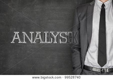 Analyst on blackboard