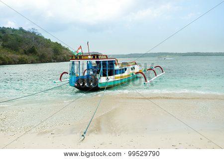 Catamaran On Nusa Penida Beach, Bali Indonesia