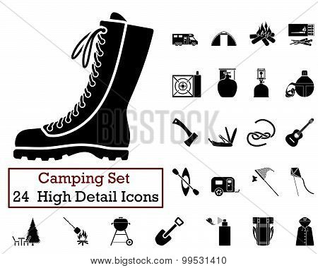 24 Camping Icons