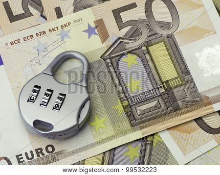 Euro Money Security Concept