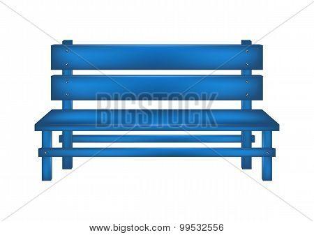 Rural bench in blue design