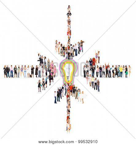 Corporate Teamwork Achievement Idea