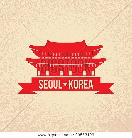Gyeongbokgung - the symbol of Seoul, Korea.
