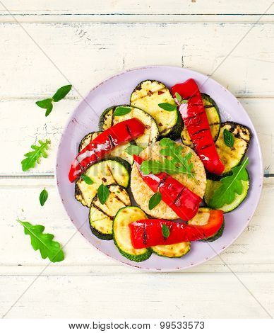 Burghul  With Grilled Vegetables