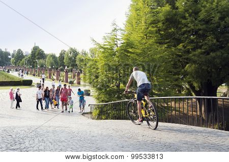 People in Herastrau park